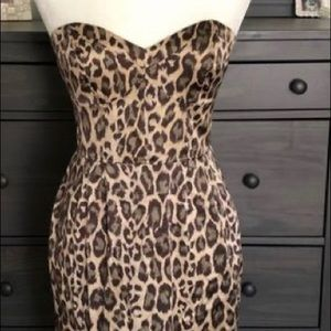 Arden B Leopard Print Satin Slip Dress